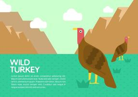 Wild Turkey Contexte vecteur
