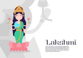 Lakshmi Contexte vecteur