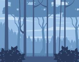 fond de paysage de bois brumeux