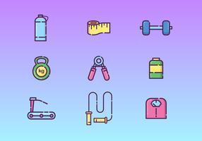 Gym gratuit et exercice vecteur