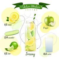recette d'eau de désintoxication