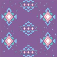 ethnique fait à la main. ornement arabesque fond violet vecteur