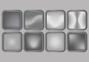 Brillant Gris Dégradé icônes vectorielles