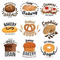 ensemble d'emblème de boulangerie