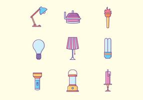 Lampes gratuites Icônes vecteur