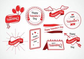 Day Vector Labels Valentine