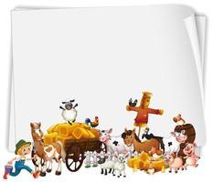 bannière d'animaux de ferme heureux