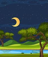 scène de nature verticale ou campagne de paysage avec vue sur la forêt