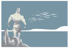 Hercules Statue Vecteur