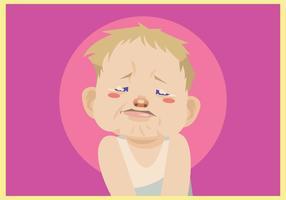 Pleurer Baby Boy Vector