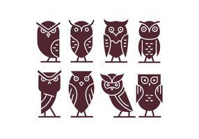 Ensemble de Owl Icône Vecteurs vecteur