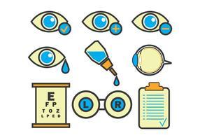 Eye Doctor icônes vectorielles vecteur