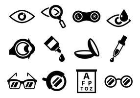 Optométrie Icônes vecteur libre