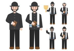 Rabbi Figure Character vecteur
