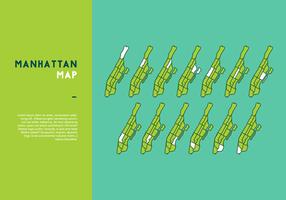 Arrondissement Manhattan carte vectorielle vecteur