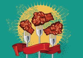 Buffalo Wings & Forks Vector