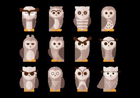 Brown coruja Icônes Vecteurs