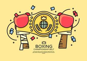 Championnat ceinture Illustration Vecteur