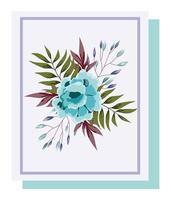 arrangement floral pour carte de voeux