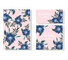 fleurs d'invitation de mariage. carte ou bannière de célébration décorative