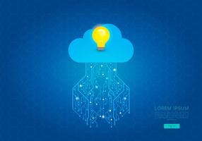 Tecnologia Cloud Computing Idea Template vecteur
