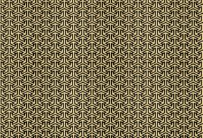 motif géométrique de couleur dorée