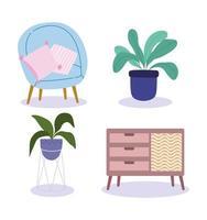 ensemble de vitrine de meubles d'intérieur à la maison