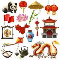 ensemble de voyage en Chine vecteur