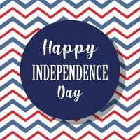 thème de la fête de l'indépendance avec fond en zigzag