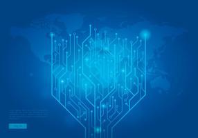 Contexte mondial Tecnologia Template vecteur