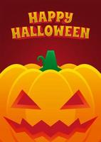 affiche de l'événement halloween avec citrouille maléfique