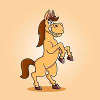 conception de dessin animé de cheval