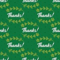 merci avec des herbes modèle sans couture de Thanksgiving