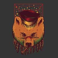 conception de tshirt ours et cigare