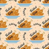 modèle sans couture de dinde joyeux thanksgiving