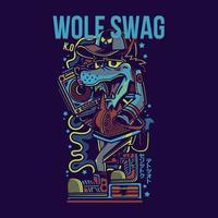 conception de tshirt swag loup