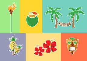 Hawaii Icônes Vecteurs vecteur