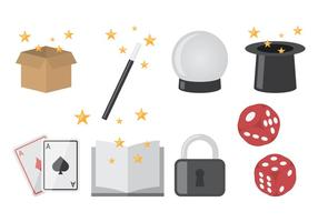Magician Icons Flat
