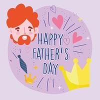 homme sur la conception de la fête des pères