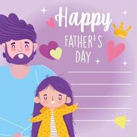 père avec fille le jour de la fête des pères