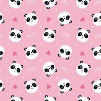 motif de visage de panda rose