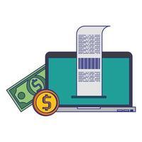 symboles de technologie d'achat et de paiement en ligne