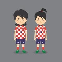 personnage de couple portant une tenue de football