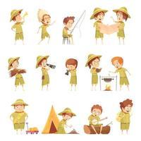 ensemble de scouts garçon et fille vecteur