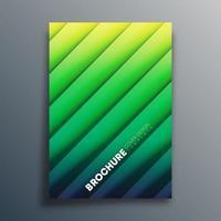 modèle de couverture vert dégradé avec des lignes diagonales