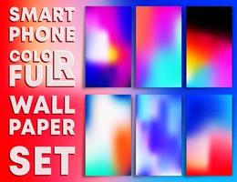 modèles de papier peint à texture dégradée colorée pour smartphones vecteur