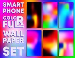 fonds d'écran de texture dégradé coloré smartphones vecteur