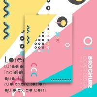 conception minimale de memphis pour flyer, affiche, brochure
