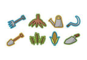 Agriculture Doodle Icons vecteur