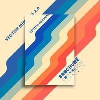 lignes colorées, design vintage minimal pour flyer, affiche, brochure